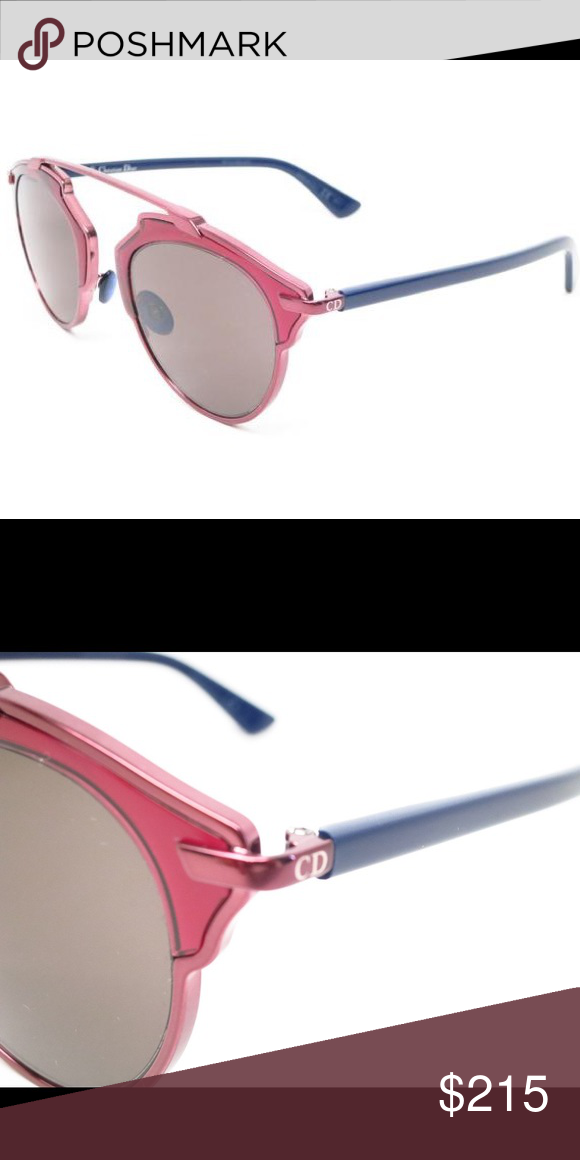 a00fa0daf92e Dior So Real Sunglasses Dior So Real sunglasses with metallic pink lens and  blue arms. They are NWT. Dior Accessories Sunglasses