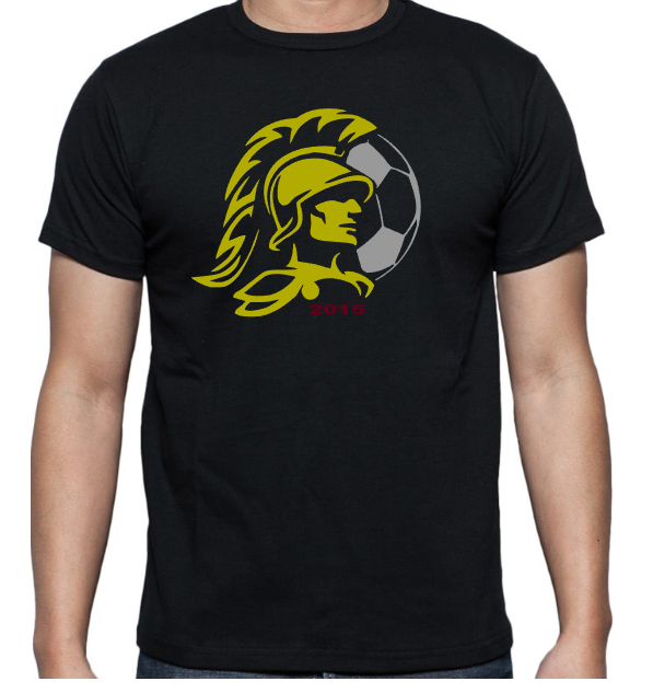 Trojan Soccer T Shirt By Little Red Designs.