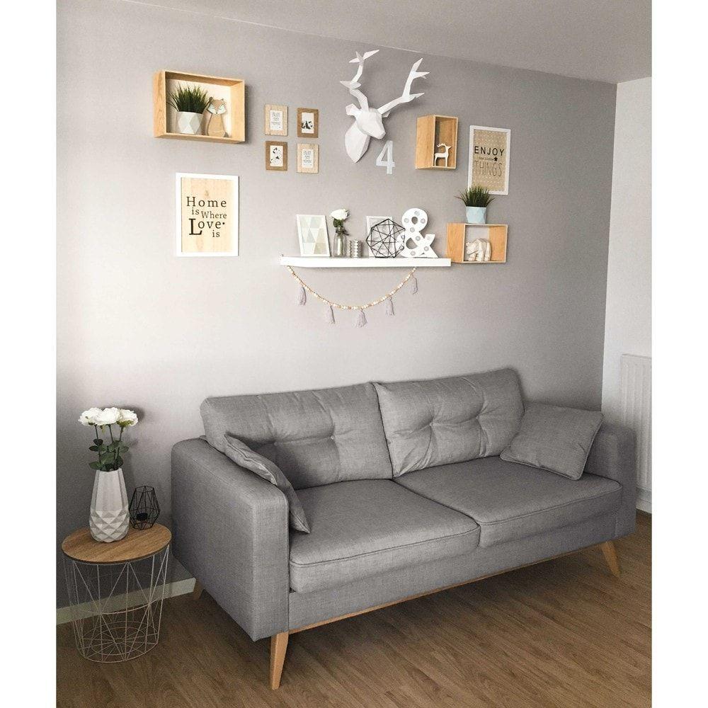 Skandinavisches 3 Sitzer Sofa Hellgrau Maisons Du Monde Canape En Metal Canape Maison Du Monde Bout De Canape Scandinave