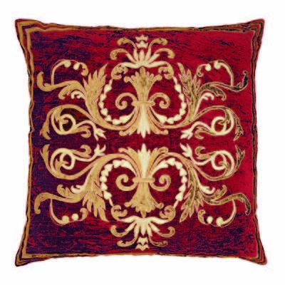 Florence Claret large square antique velvet Cushion Cover