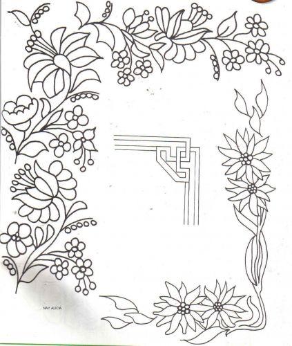 esquinas de flores para colorear - Buscar con Google | Patrones ...