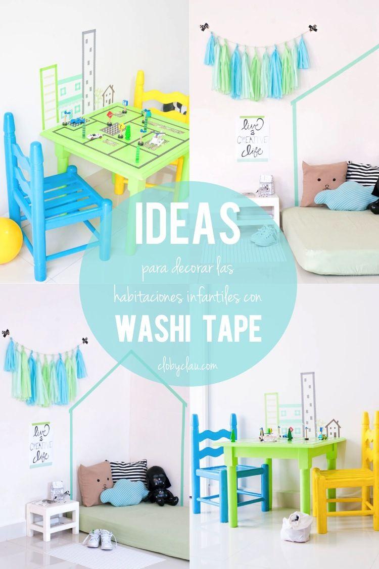 DIY Idea: Decorar las habitaciones infantiles con Washi Tape | Washi ...