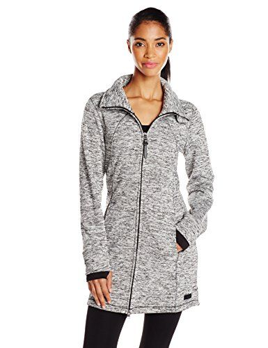 Calvin Klein Performance Women's Hooded Sweater Knit Walker Coat ...