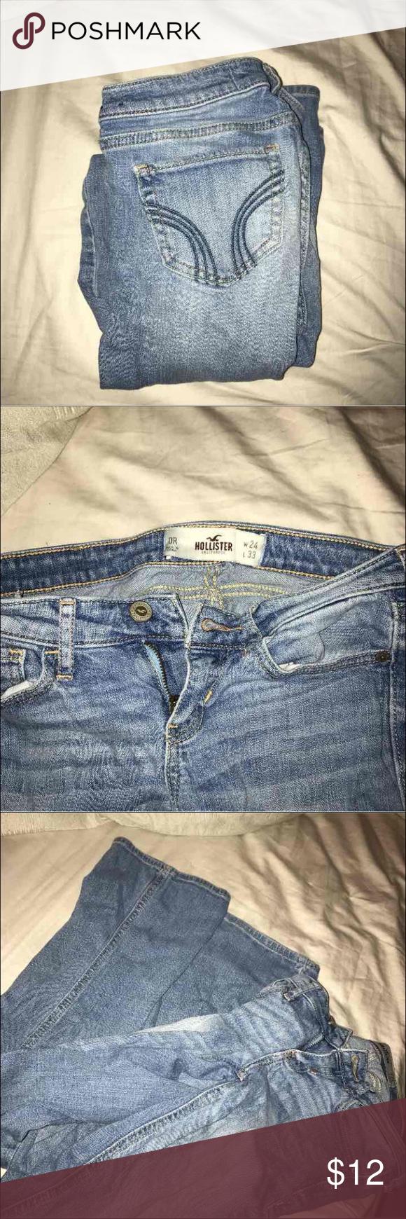 JEANS Hollister jeans for sale! Size:0R color: light wash.   Condition: GOOD Hollister Jeans Boot Cut