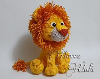 Lion Amigurumi pattern by Amanda Maciel #stuffedtoyspatterns