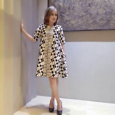 Batik Dress Semi Formal Model Baju Gaun Model Baju Wanita