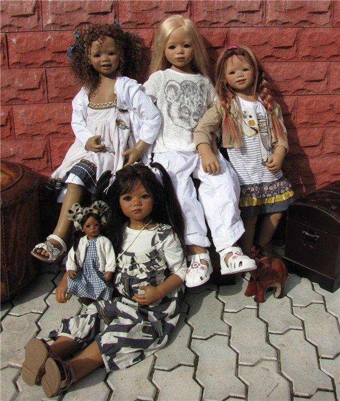 Вспоминая теплые дни. Полуденные танцы кукол Annette Himstedt / Коллекционные куклы Annette Himstedt / Бэйбики. Куклы фото. Одежда для кукол