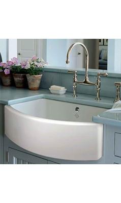 Shaws Waterside Curved Ceramic Single Bowl Belfast Kitchen Sink 597mm X 531mm In 2019 Diy Kitchen Remodel Sink Ceramic Kitchen Sinks