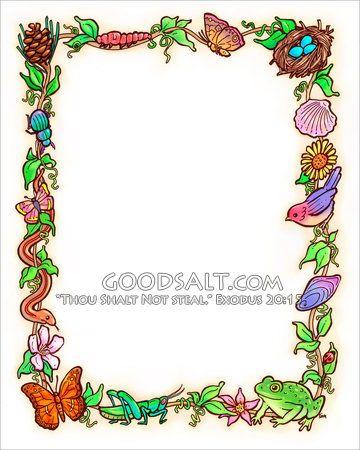 whimsical nature frame border decorative borders art for kids whimsical whimsical nature frame border