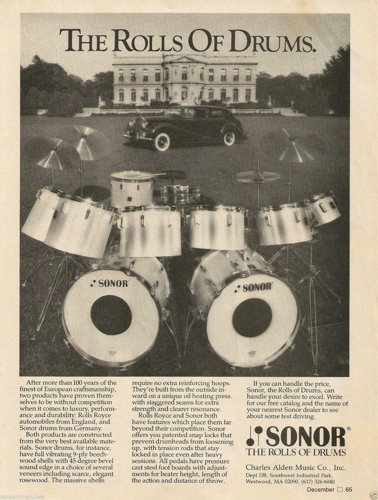 SONOR DRUMS AD #GearShack