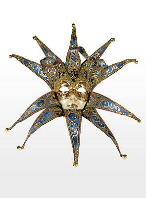 219€, Jolly Collare Velluto blu - Venezianische Maske