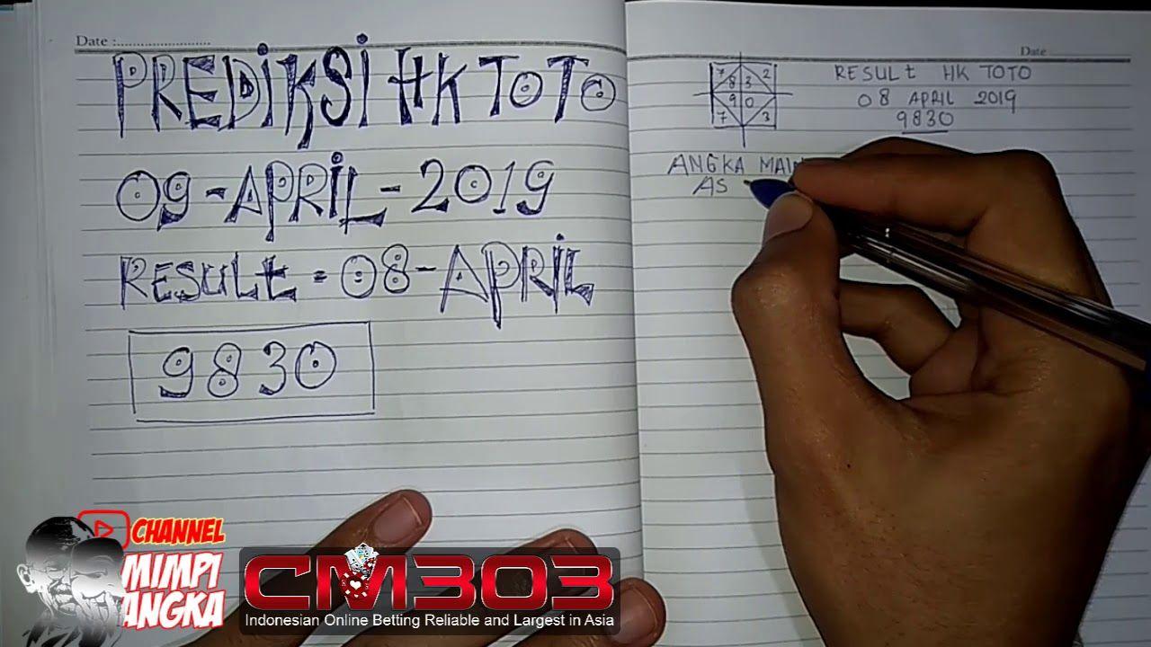 Bocoran mimpi angka togel hongkong pools data hkg 09 April 2019