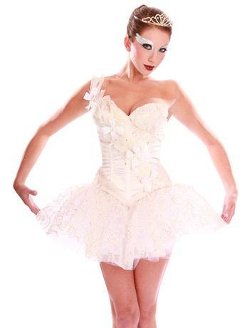 white swan  ballerina fancy dress angel fancy dress