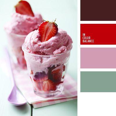 color celeste grisáceo, color del espárrago, color fresa, color helado de fresa, color mermelada de fresa, color puce francés, combinaciones de colores, elección del color, rosado y rojo, selección de colores para el diseño, verde lechuga grisáceo.