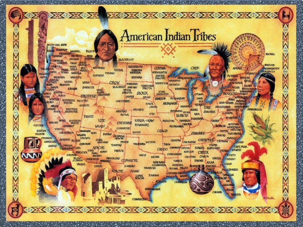 American Indian Tribes United States Map