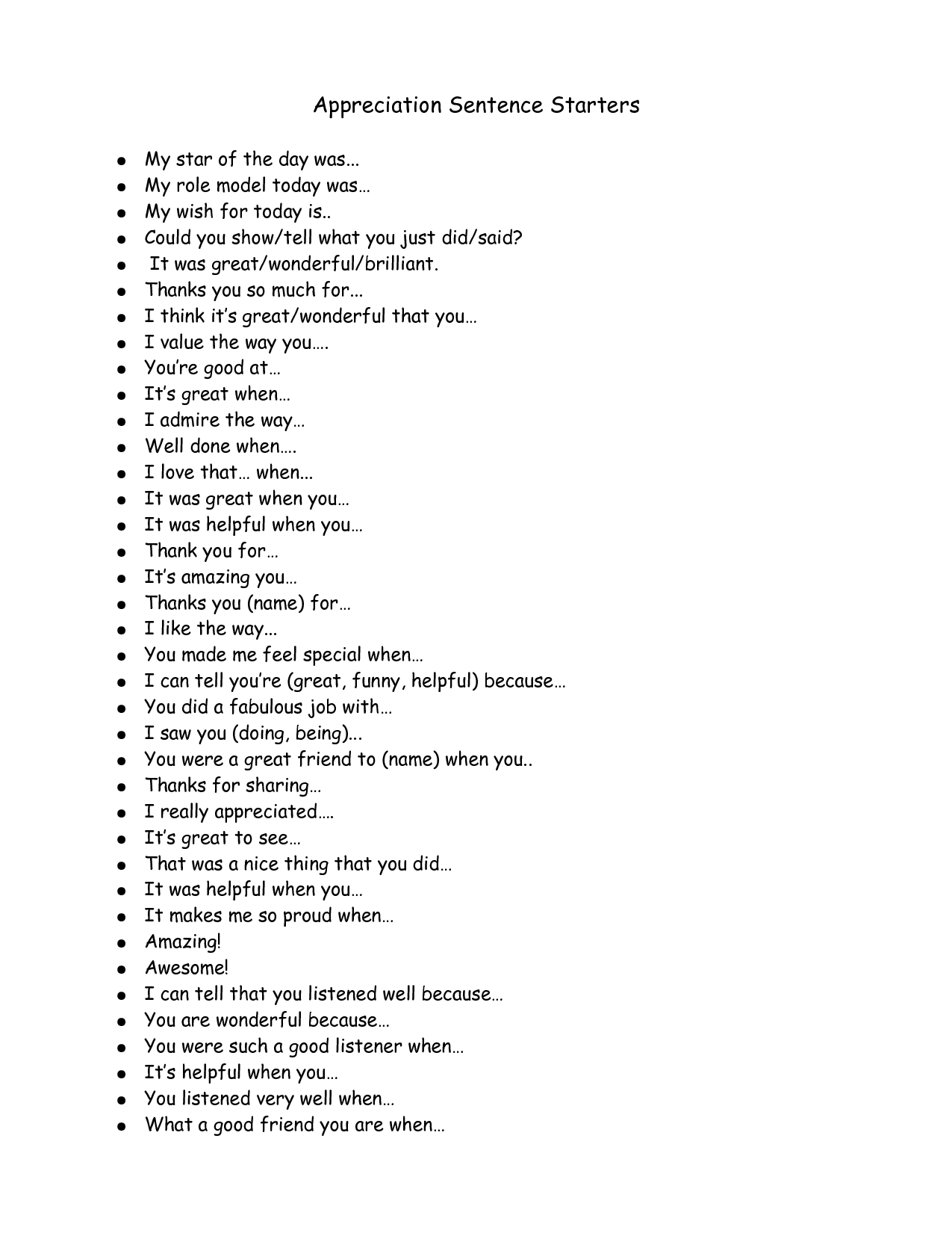 Image Result For Introduction Sentence Starters
