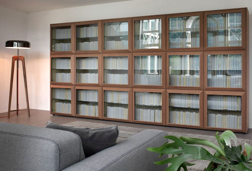 Modern Bookcase With Glass Doors Designing My Next House