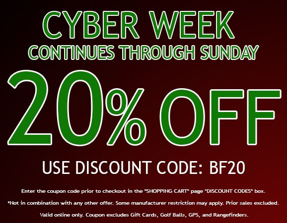 20 Off Sitewide For Cyber Week Extends Through Sunday Use Coupon Code Bf20 Some Manufacturer Restrictions Apply Don T How To Apply Cyber Week Coupon Codes