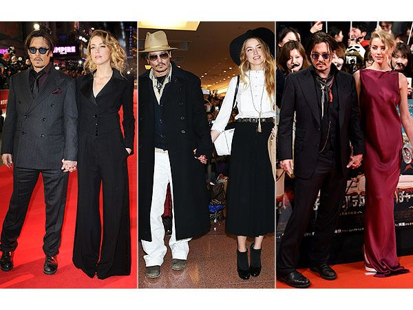 Johnny Depp and Amber Heard's Matchy-Matchy Couple Style: You Into It? http://stylenews.peoplestylewatch.com/2015/01/28/johnny-depp-amber-heard-couple-style-red-carpet-looks/?xid=socialflow_twitter_peoplemag