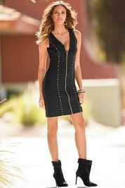 Ponte studded sheath