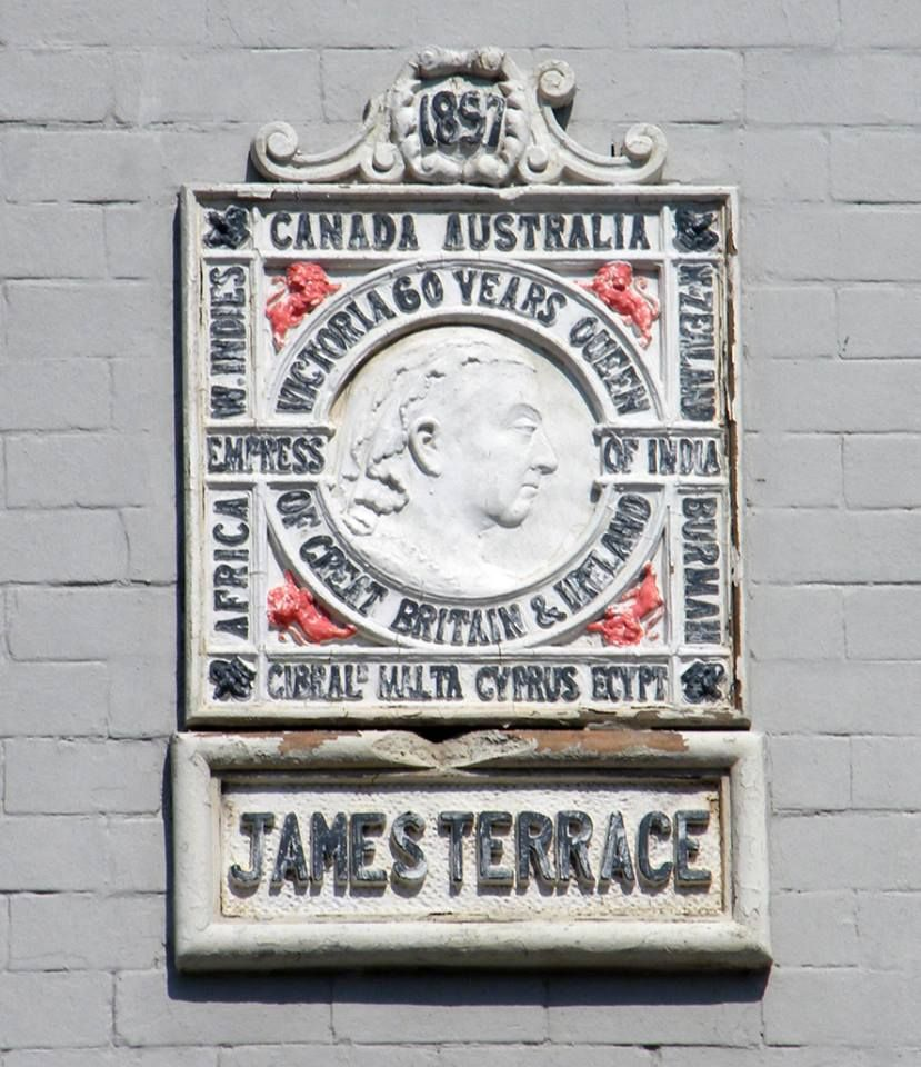 Courtesy of Tom Robinson of Zetland Museum - Plaque from the Reign of Queen Victoria ( Located on a Queens St House)