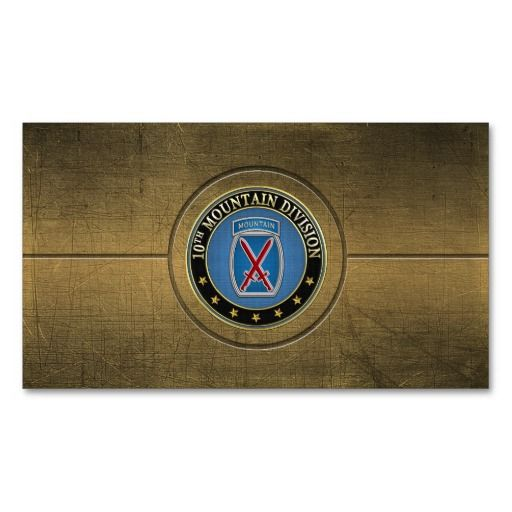 154 10th Mountain Division 10th Md Ssi Business Card Templates 3d Business Card Business Cards Military Insignia