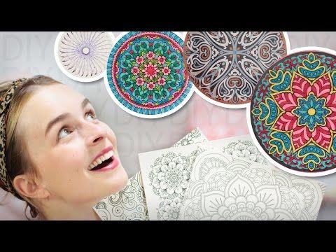 DIY Mandala Inspirationen Wohn Deko 4 Varianten