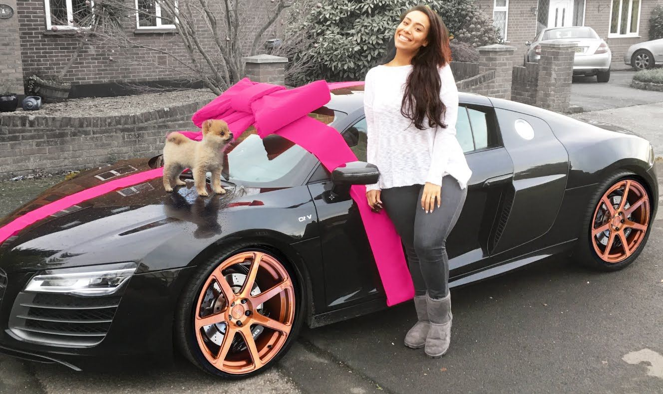 CHRISTMAS SURPRISE: PUPPY U0026 NEW AUDI R8 GT ...