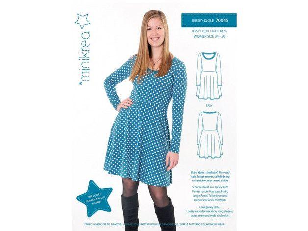Schickes Kleid aus Jerseystoff. Feiner runder Halsausschnitt, lange ...