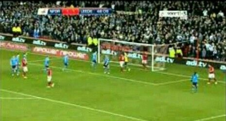 Nottm Forest 4 Leeds Utd 2 in Dec 2012 at the City Ground. Forest have to defend a corner but they collected the points #Champ