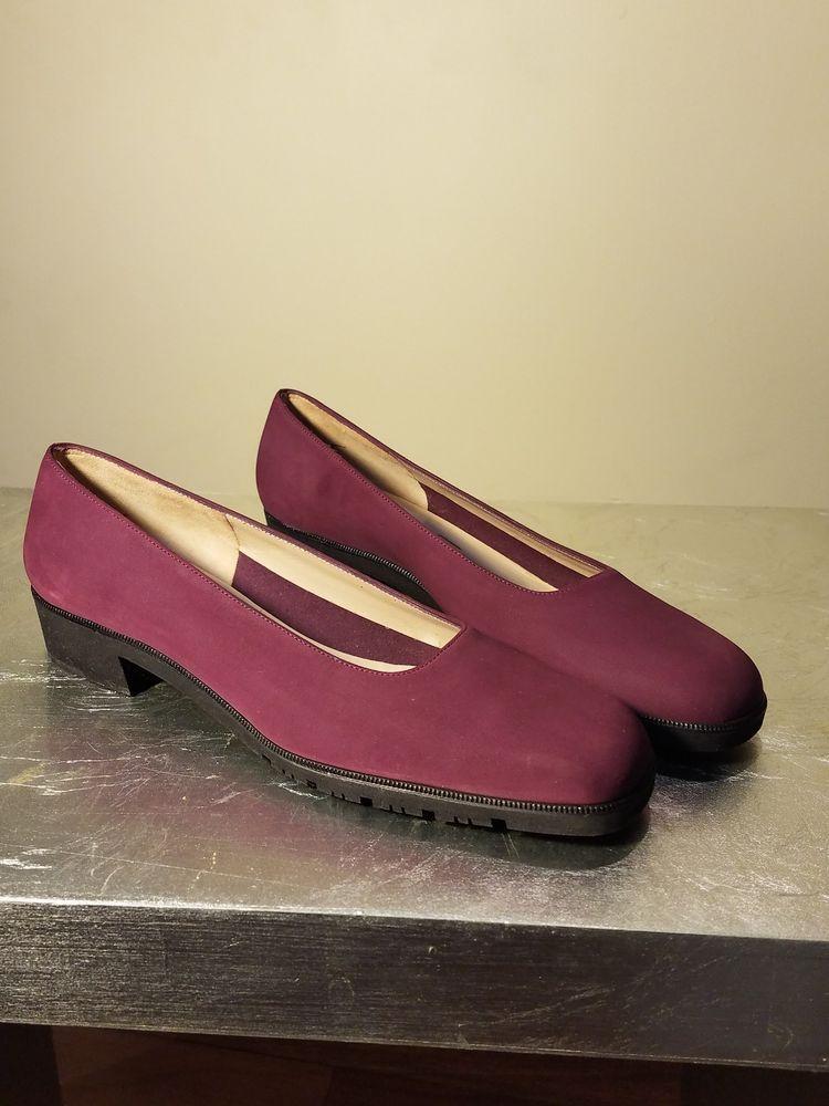 New Salvatore Ferragamo Boutique Shoes Wine Color Size 7 3 A Slip On Fashion