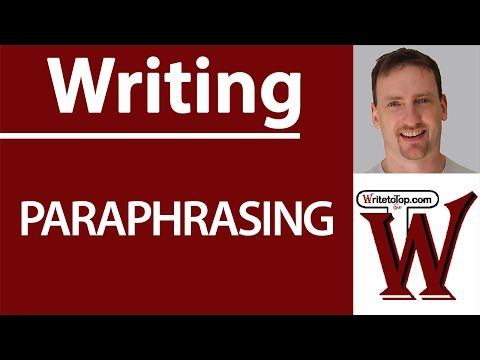 14 Paraphrasing The Basic Step Youtube Paraphrase Writing Words