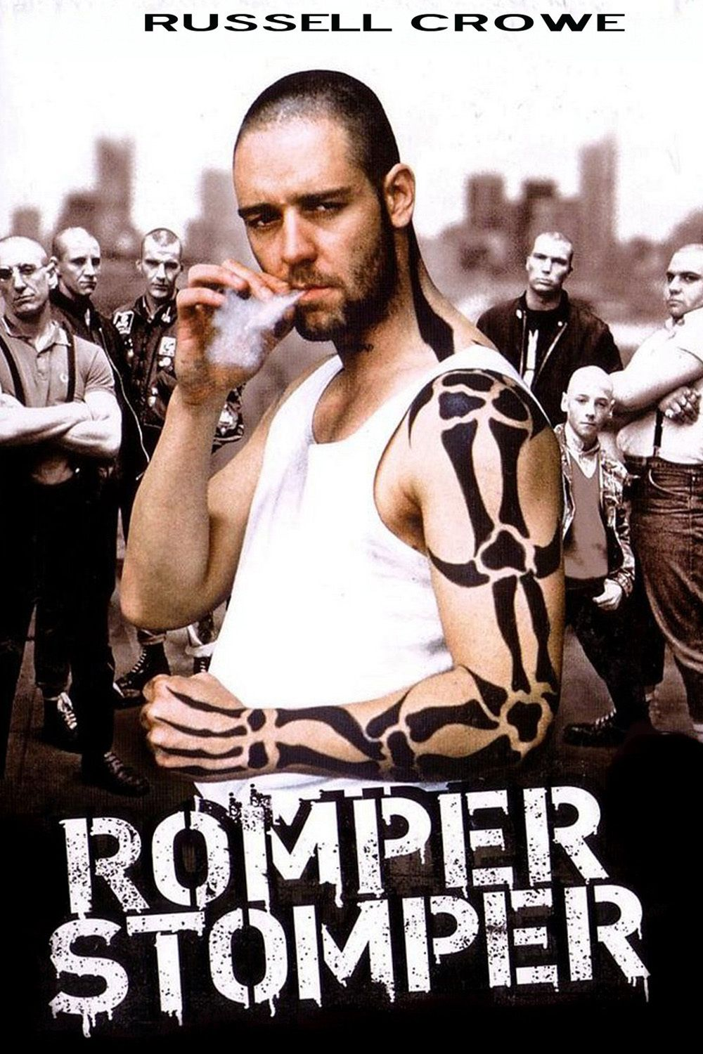 russell crowe as hando in romper stomper. a 1992 australian crime