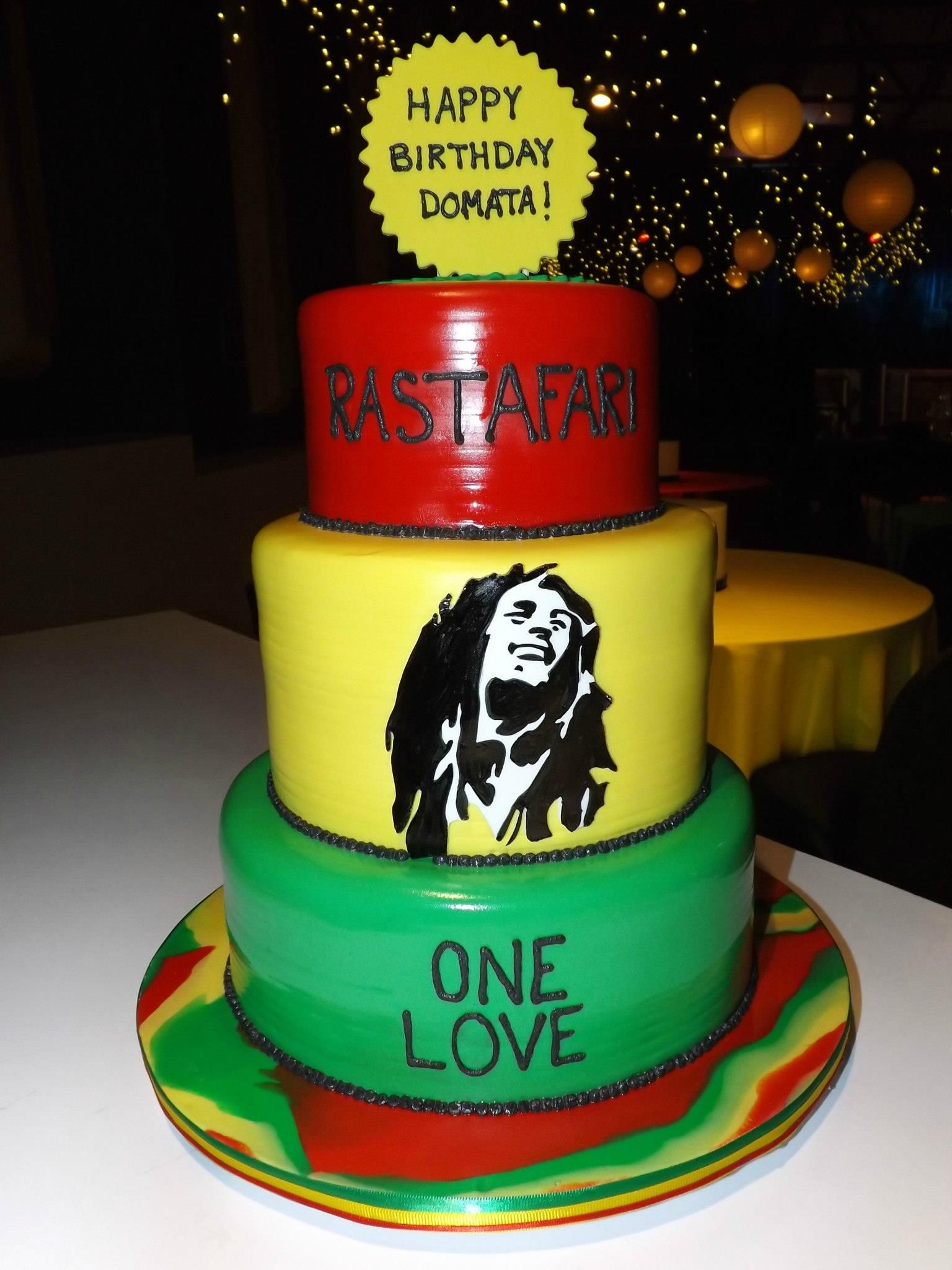 Bob Marley Themed Birthday Cake Our Specialty Cakes Pinterest
