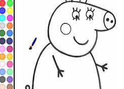 JuegosdePeppa.com - Juego: Colorear Mamá Pig Pintar Dibujos Online Juegos  Peppa Gratis Online
