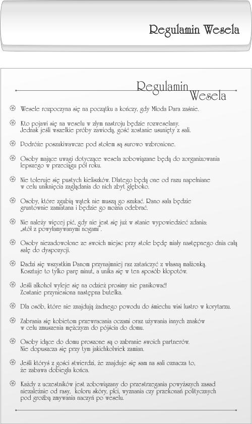 Regulamin Wesela Mozecie Umiescic Wedding Proposals Wedding Time Wedding Games