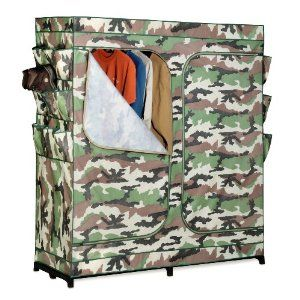 clothing storage closet in camouflage. so you don't see it taking up half your bedroom. #anythingincamouflageisnotokay