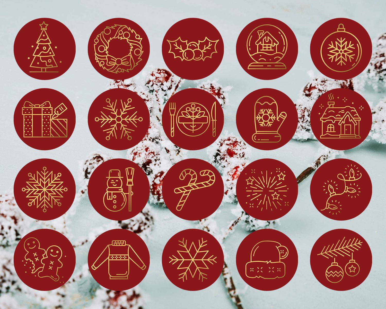 Xmas Insta Story Cover Icons, Christmas Instagram