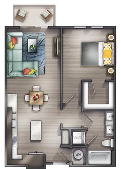 Studio Apartments Nashville | Peyton Stakes Luxury Apartments: A4 1 Bed | 1 Bath 717 Sq. Ft. Starting At $1604