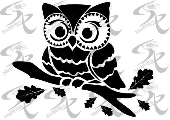 Vector owl bird svg dxf ai png eps jpg silhouette download files digital graphical cricut - Dessin dxf gratuit ...