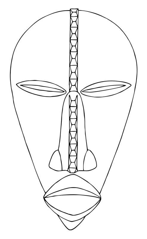 dan masks have a typically high forehead pouting mouth and pointed chin they may