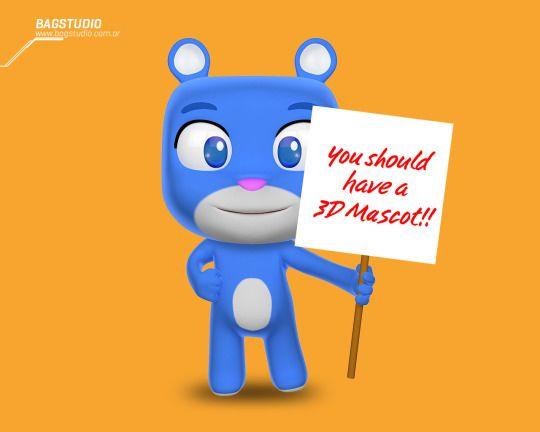 BAGSTUDIO 3D character design #cute #3d #render #3Ddesign #character #bear #blue #mascot #kawaii #cartoon #cinema4d #c4d