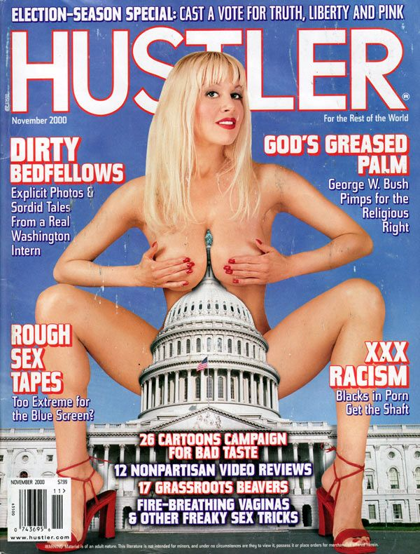 Hustler November 2000 with Clacy by Clive McLean