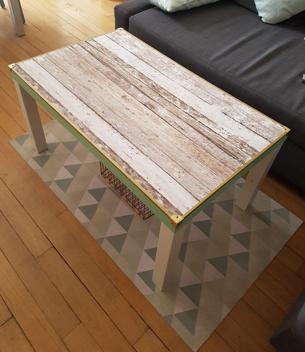 une table basse lack au look design bidouilles ikea pinterest table basse lack ikea et angles. Black Bedroom Furniture Sets. Home Design Ideas