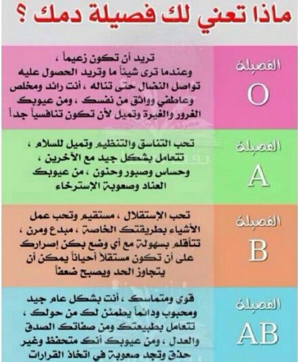 فصيلتك تعني Health Advice Health Facts Health And Nutrition
