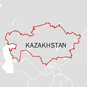 Map of Kazakhstan