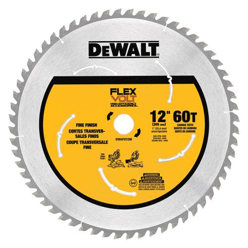 Dewalt Dwafv31260 Flexvolt Trade Large Diameter Circular Saw Blade 12 Circular Saw Blades Saw Blade Table Saw Blades