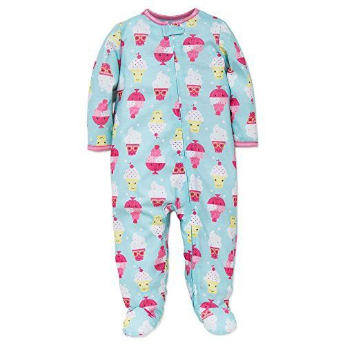 a4e0b1a7188f Baby Girls Ice Cream Sleeper Footed Pajamas (12 months)