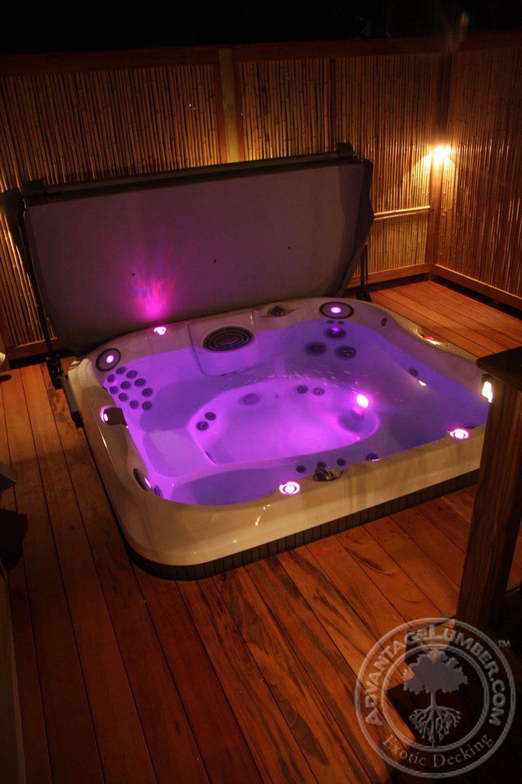 1 X 4 Tigerwood Decking Pool Hot Tub Hot Tub Hot Tub Deck