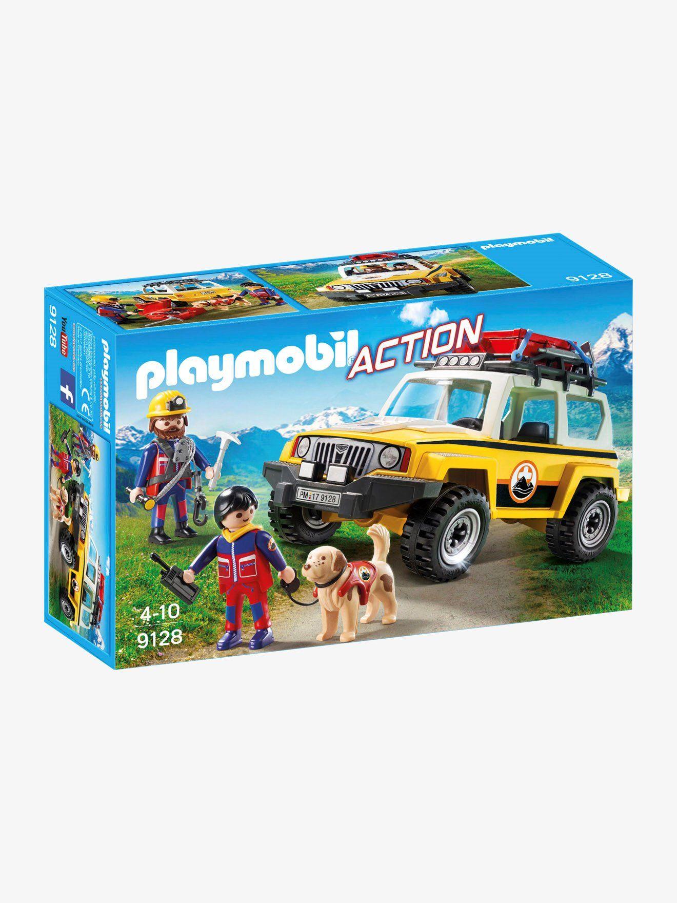 5337 Pompiers Avec Véhicule Aéroportuaire Playmobil Pompiers Et